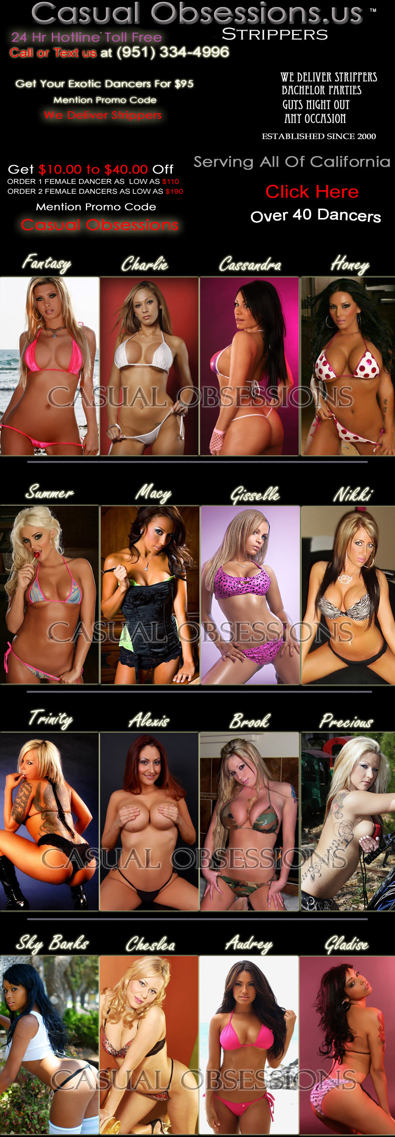1 Stop Female Strippers For Southern California