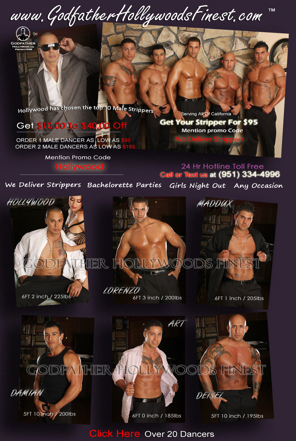 Logo For Male Strippers Moreno Valley. Exotic Dancers ...